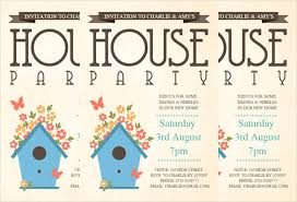 New House Party Invitations Architectural Designs