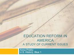 Ppt Template For Academic Presentation Education Reform In America