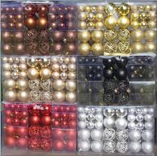 Geschenkestadl Weihnachtskugeln 100 Stück Braun Christbaumkugeln Baumschmuck Weihnachtsbaumschmuck Baumkugeln