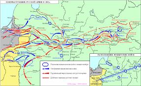 Отечественная война года и заграничный поход русской армии Карта Контрнаступление русской армии в 1812 году jpg 983×603