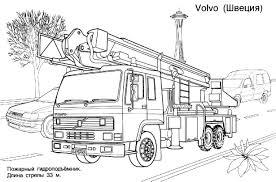 5 Dessins De Coloriage Pompier Camion Imprimer