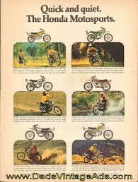vintage honda motorcycle ads. advertisement vintage honda motorcycle ads