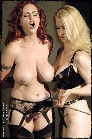 Big bondage lesbian tit