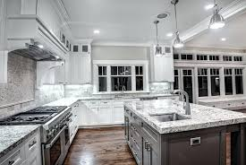 Dark Kitchen Cabinets With Light Granite Cool Gray Backsplash White Cabinets Dark Monochrome Kitchen Ideas Finit