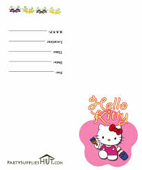 Happy Birthday Card Templates Free Cool Hello Kitty Birthday Card Template Free Fresh 48 Best Hello Kitty