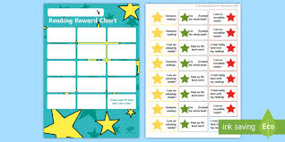 Reading Sticker Chart Stars Themed Reading Sticker Reward Charts Y2 Home