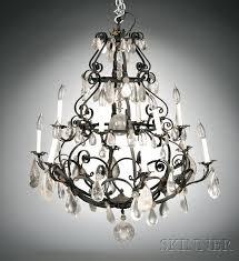 rock crystal chandelier baroque style twelve light wrought iron and rock crystal chandelier rock crystal chandelier rock crystal chandelier