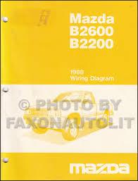 mazda b2600 service manuals shop owner maintenance and repair 1988 mazda b2600 b2200 pickup truck wiring diagram manual original