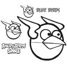 angry blue birds from e coloring pages