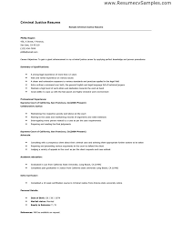 Harvey S Criminal Justice. Resume Objective Examples