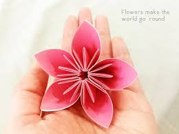 Folding Paper Flower Forty Weeks Crafts Diy Florigami Therapy