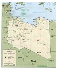 Kaart Noord Afrika Landen Topografie Kaart Libië En Tripoli