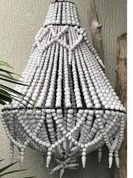 wooden beads chandeliers bali