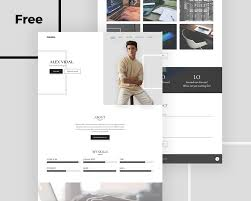 Completely Free Resume Templates Alex Free Personal Portfolio and Resume PSD Template UIdeck 76