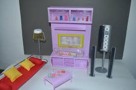 dollhouse furniture modern. Amazon.com: Barbie Size Dollhouse Furniture- Modern Comfort Living Room Family Tv Home Audio Couch Light: Toys \u0026 Games Furniture