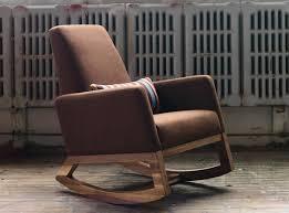 brown modern rocking chair nursery trex outdoor rockers grey recliner eames craigslist bayou rocker gaming