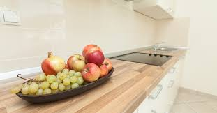 kitchen counter with food. fruit bowl on kitchen counter with food n