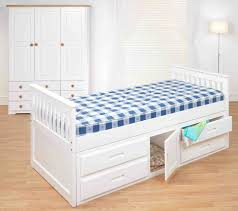 kids beds with storage. Bed Frames : White Frame With Storage Drawers Kids Beds Pine Captains Underbed X Sprung Mattresses Single Cabin Waxed Or Finish P Amani Side Double Girls S