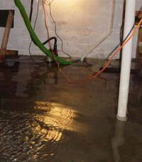 flooded basement.  Basement Several Feet Of Floodwaters In A Alcona Basement On Flooded Basement