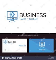 Computer Card Design Computer Setting Design Blue Business Logo And Business