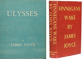 first editions of ulysses 1922 and finnegans wake 1939 i like peter mendelsund s book cover