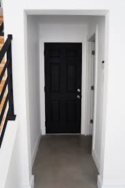 DIY: How I Painted 3 of My House Doors Matte Black