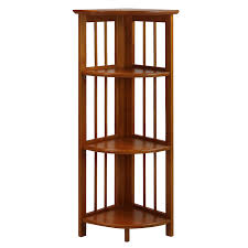 Oak Corner Shelving Amazon Casual Home 100100 100Shelf Corner Folding Bookcase 38