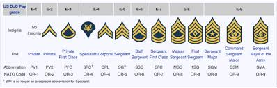 E7 Pay Chart U S Army Rank Insignia Hyrums Heroes
