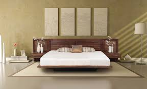 bed with nightstands attached. Fine Bed Moduluxe Platform Bed In With Nightstands Attached T