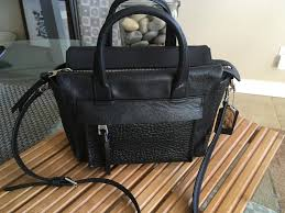 ... coach bleecker mini riley carryall in 27923 black leather satchel