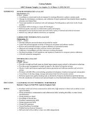 Bioinformatics Analyst Resume Sample Informatics Analyst Resume Samples Velvet Jobs 8