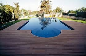 backyard infinity pools. Wooden Pool Deck Of Infinity On Backyard Pools A
