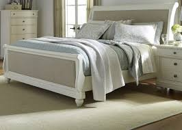 Liberty Furniture Bedroom Furniture Harbor View Ii Queen Sleigh Bed In Linen 631 Br Qsl
