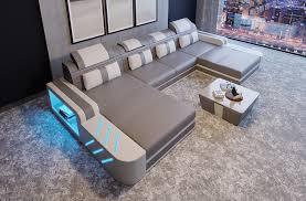 Design Sofa Couch Leder Polster Sitz Garnitur Wohnlandschaft