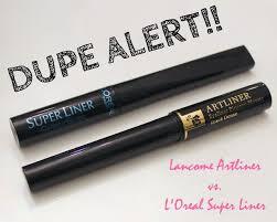 DUPE ALERT!! Lancome Artliner vs. L'Oreal Super Liner #twinning ...