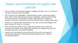 chapter 15 fiscal policy demand side policies  keynesian impact and limitations of supply side policies  the net effect of president reagan s budget priorities