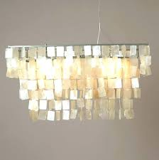 rectangular capiz chandelier rectangular chandelier shell chandelier rectangular large rectangle hanging chandelier white handcrafted west elm capiz