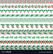 Border Patterns Cool Christmas Border Patterns Royalty Free Vector Image
