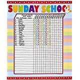 Sunday School Sticker Charts Sunday School Attendance Record Book Attendance Chart