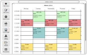 Free College Schedule Scheduler College Magdalene Project Org