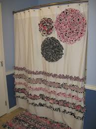 items similar to shower curtain custom designer fabric ruffles flowers hot pink black gray white paris eiffel tower zebra damask stripes dots girly girl