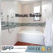 custom marble mosaic tiles listello border for bathroom and kitchen