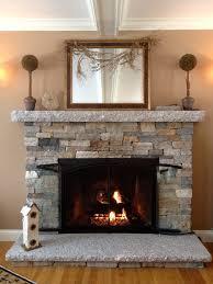 Stone Veneer Fireplace ...