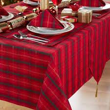 tartan tablecloth round 69 inch