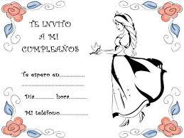 tarjetas de cumplea os para ni as para colorear de princesas y flores para fiestas de cumpleaños