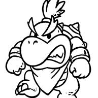 Online Bowser Kleurplaten Van Super Mario Kleurplaatjecom