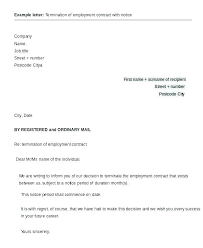 Company Termination Letter Mesmerizing Contract Termination Letter Template Of To Employer Employment By