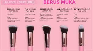 10pcs kabuki makeup brushes code pink fully synthetic hair