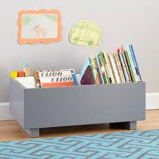 the land of nod kids book bins grey book storage bin in all new kate needs this