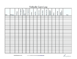 Vehicle Maintenance Log Template Commercial Truck Templates For